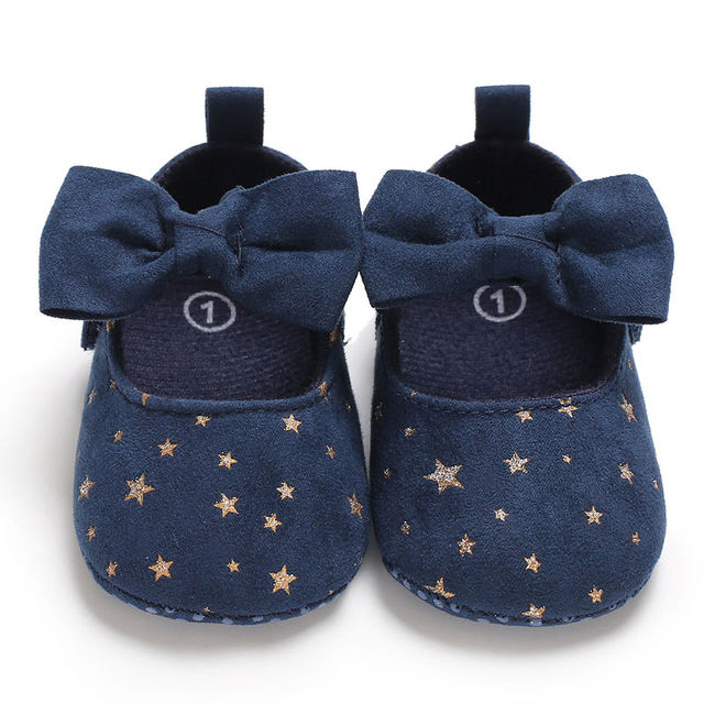 2019 New Autumn Fashion Infant Toddler Newborn Baby Girls Shoes Bow Printing Soft Crib Anti-slip Princess Shoes For Party 2