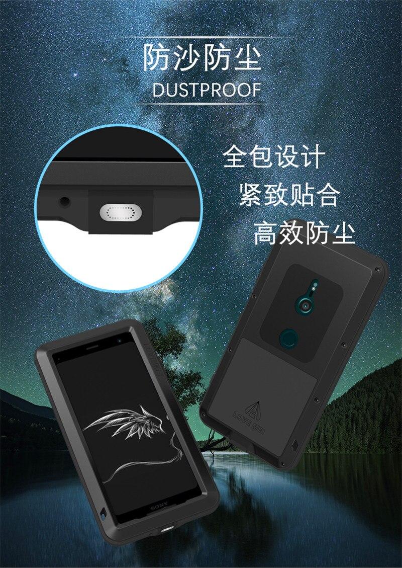 Pour Sony XZ3 armure métal boîtier antichoc pour SONY Xperia XZ3 aluminium vie couverture étanche pour Sony XZ3 Xperia XZ 3 coques de téléphone - 4