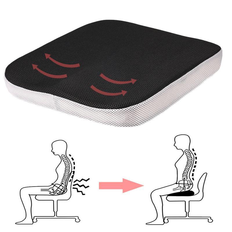 Slow Rebound Memory Foam Cushion Wheelchair Memory Foam Back Pain Pressure Relief Home Seat Cushion Orthopedic