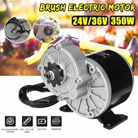 350W 24V/36V DC Brush Electric Bicycle Motor For 410 1/2''x1/8'' Chain Bicycle Scooter E Bike Accessories DIY New Arrival 2019