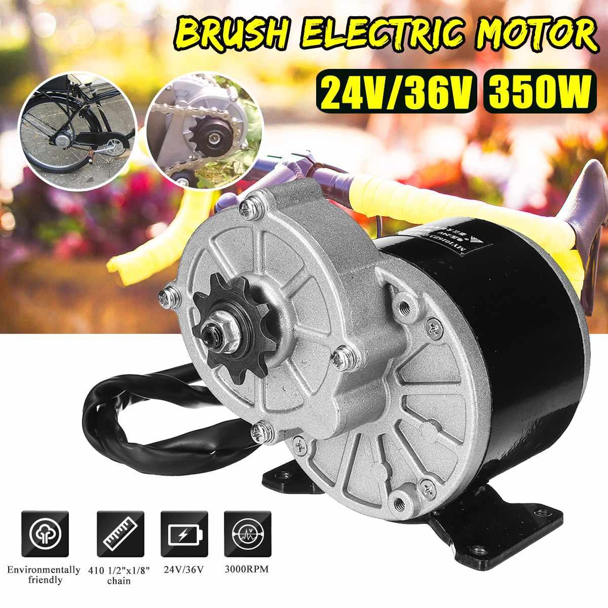 350 W 24 V/36 V DC brosse moteur de vélo électrique pour 410 1/2 ''x1/8 ''chaîne vélo Scooter E vélo accessoires bricolage nouveauté 2019