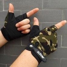 Для мужчин уличные противоскользящие Велоспорт Перчатки одежда для фитнеса Военная Половина палец Перчатки MTB велосипед мотоциклов перчатки Guantes Ciclismo