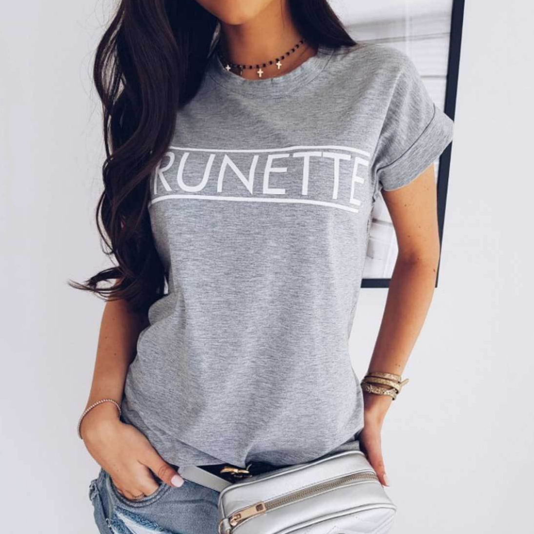 904c4643c82e9 Fashion Summer Women Short Sleeve Basic T shirt Elegant Ladies Tee Shirt  femme Casual Tops harajuku Hipster Cotton tshirt-in T-Shirts from Women's  Clothing ...