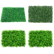 40x60cm Green Grass Mat Artificial Plant Lawns Landscape Carpet for Home Garden Wall Decoration Fake Festive Party Supply