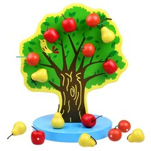 Montessori Magnetic Fruit Tree Color Sensory Toy Math Apple Pear Counting Game Early Education for Child Birthday Xmas Gift