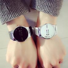 LinTimes прекрасный лаконичный пара для женщин мужчин часы Мода красочные проигрыватели кварцевые наручные часы Рождественский подарок