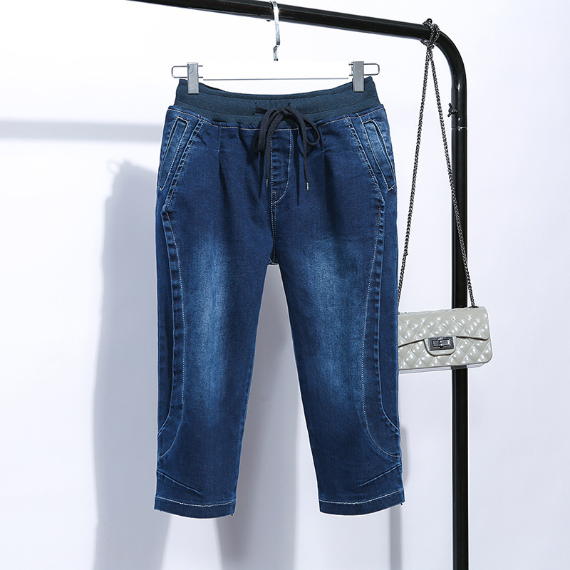 2019 Summer   Jeans   Woman High Waist Boyfriend   Jeans   for Women Plus Size Blue Denim Mom   Jeans   Pants Trousers Plus Size G3P7