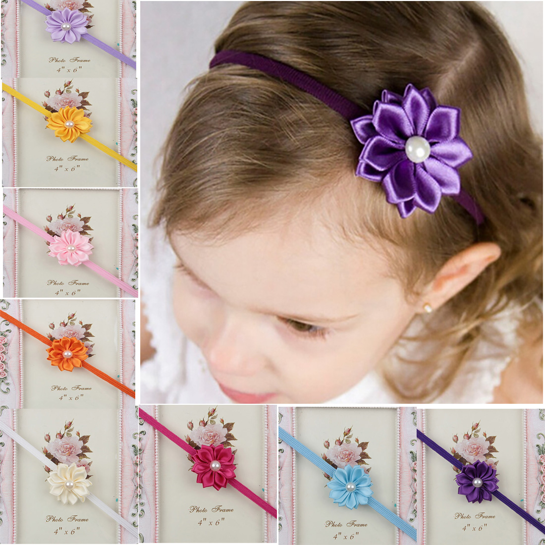 Candy Color 1pc Kids Girl Baby Headband Toddler Flower Hair Band Baby Girls Headband