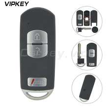 Remotekey WAZSKE13D01 for Mazda 3 6 CX-3 CX-5 Replacement 2+1 button Smart Remote Car Key Shell Fob Red Hold with Uncut Blade цена и фото