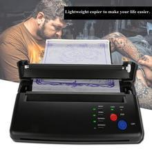 Più leggero di Trasferimento Del Tatuaggio Macchina Stampante Termica di Disegno del Creatore Dello Stampino Copier per la Carta di Trasferimento Del Tatuaggio di Alimentazione Permanet di Trucco