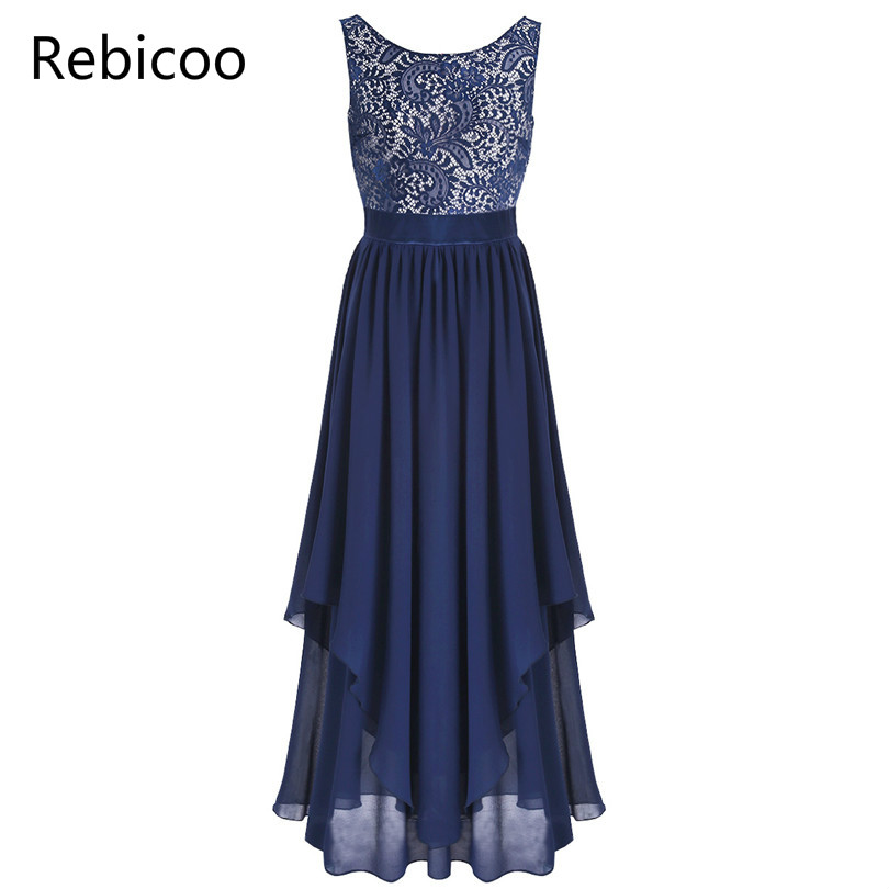 3684ec23901aa US $17.48 5% OFF|Fashion Women Bridesmaid Long Maxi Dress Longo Vestido De  Festa Sleeveless Lace Dress Elegant Evening Wedding Formal Party Dress-in  ...