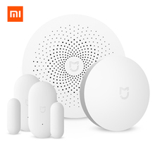 Original Xiaomi 4 in 1 mijia Smart Home kits Security Set Multifunctional Gateway Window Door Sensor Wireless Switch