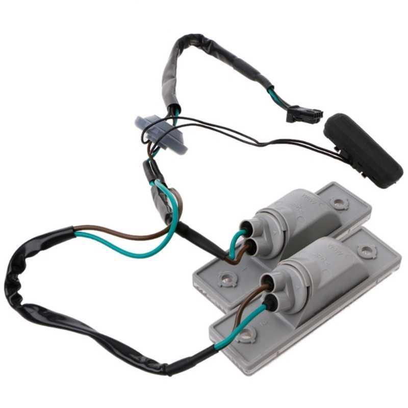 אחורי חזרה לוחית רישוי אור עם מתג תא מטען כפתור עבור Cruze שברולט מספר צלחת