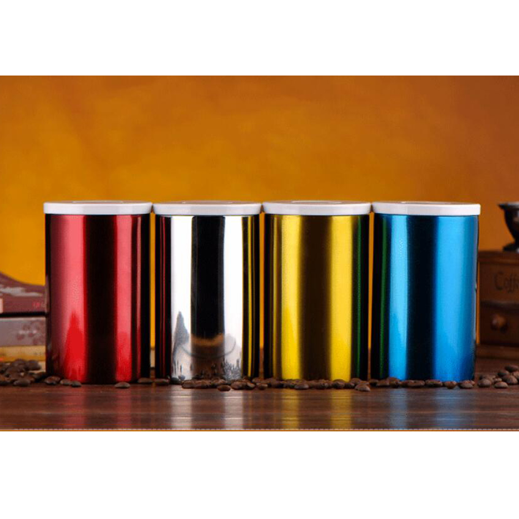 Amagogo Canisters Kitchen Counter Stainless Steel Lids Tea ...