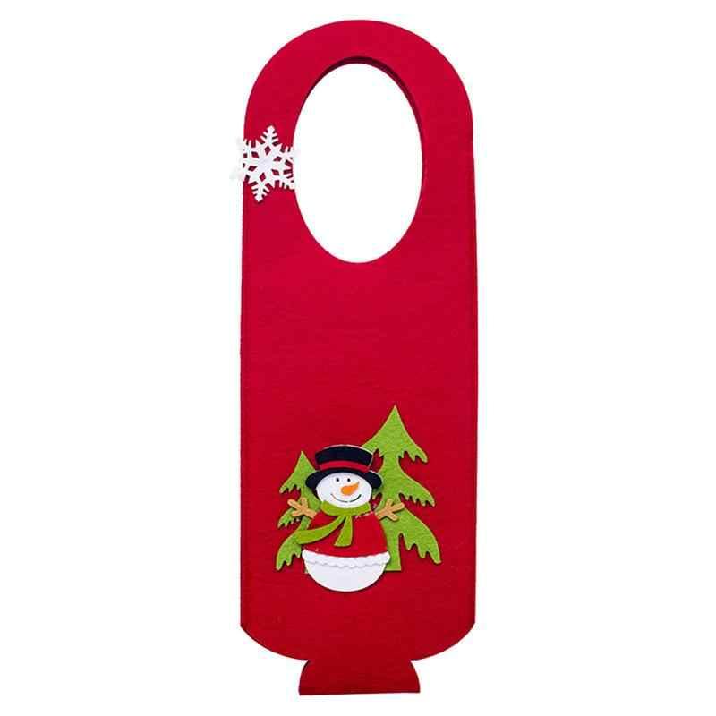 Рождественская бутылка вина защитная сумка крышка войлочная Рождественская тема канун Рождества винная Крышка для хранение вина Рождественская вечеринка