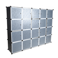 20 Cube Clothes Closet Modular Wardrobe High Quality Resin Clothes Shoes Storage Rack Organizer Easy Assemble on sale