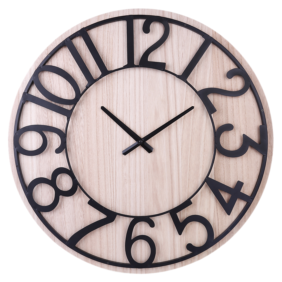 60cm Simple Fashionable Mute Clock Large Wall Clock Retro Vintage Antique New Arrival Hanging Clock Home Decoration
