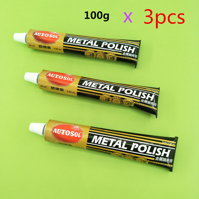AUTOSOL Metal Polishing Cream Hardware Wristwatch Scratch Repair Grinding Derusting Polishing Saving Copper 100g 75ml