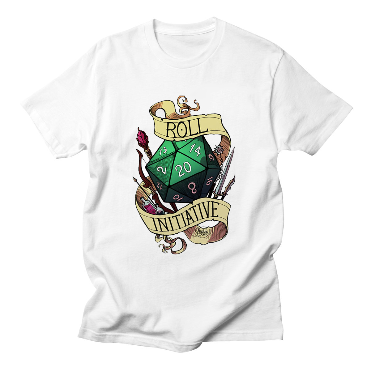 Roll Initiative Video Game Gaming T Shirts Dnd Dungeons Dragons D20 D D Critical Role The Adventure Zone 20 Sided Die