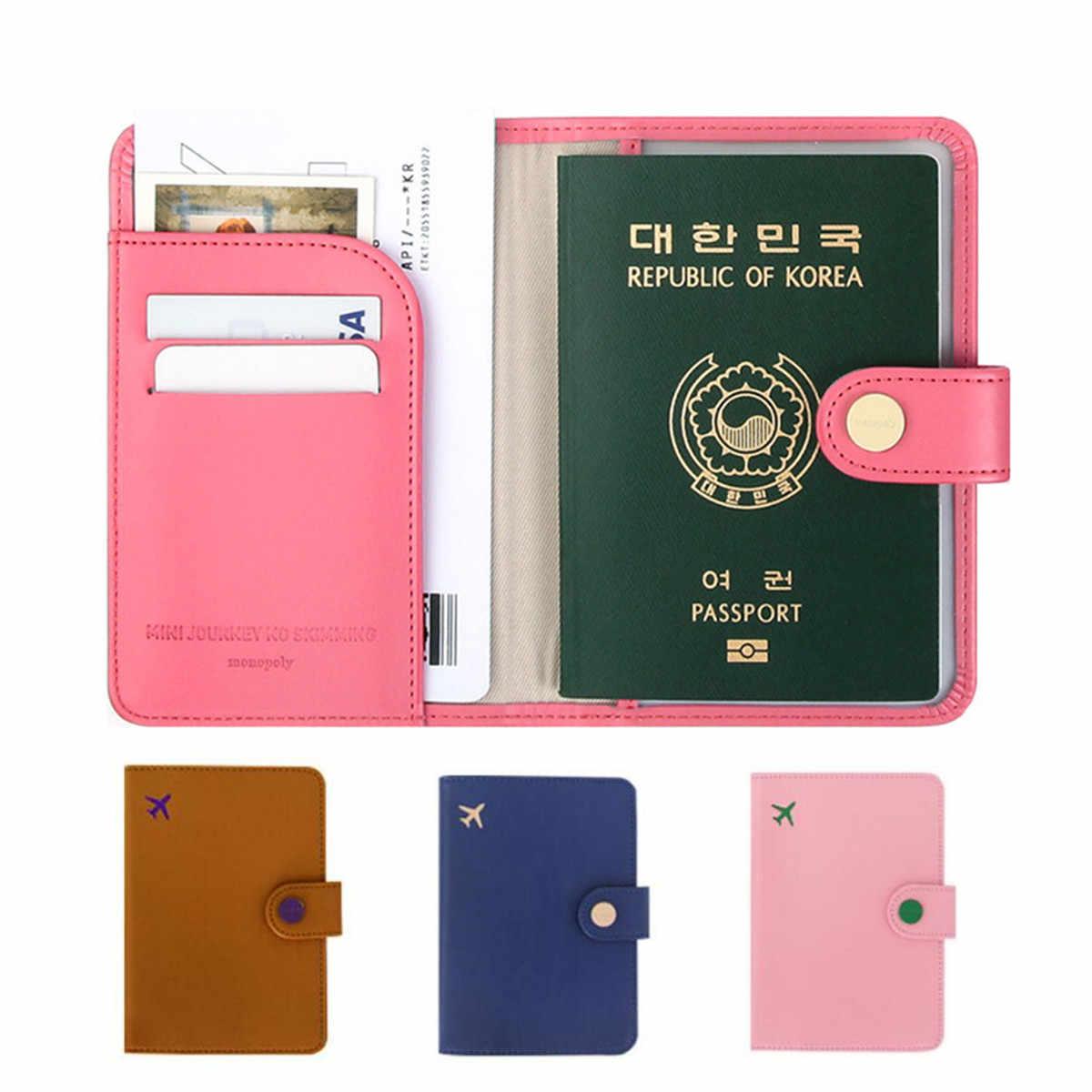 45c60641ee3d AEQUEEN RFID Blocking Passport Holder Wallet Travel Card Case Ticket  Organizer Cover Protector Protective Travel Passport Cover