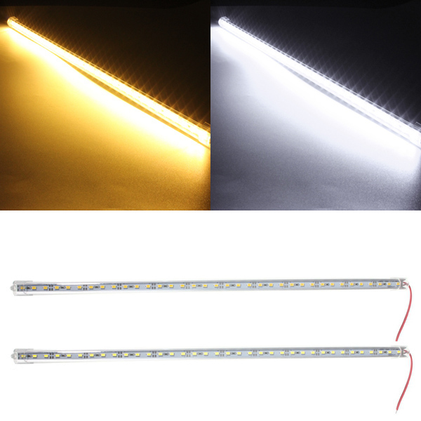Smuxi 9W 50cm 36 LED 5630 SMD Waterproof Hard Rigid Strip Cabinet LED Bar Light Pure White Warm White With Cover DC12V