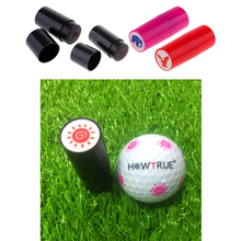 4 Pieces Quick Drying Golf Ball Stamper Golfer Stamp Marker Training