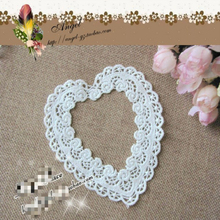 9.2cm Exquisite Organza Hollow Out Heart-shaped Fashion Applique Womens Clothing Collar Wedding Dress DIY Sewing Decoration