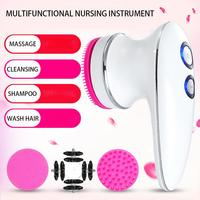 Multi Function Handheld Massager Electric Facial Cleanser Wash Face Cleaning Machine Massage Shampoo Brush