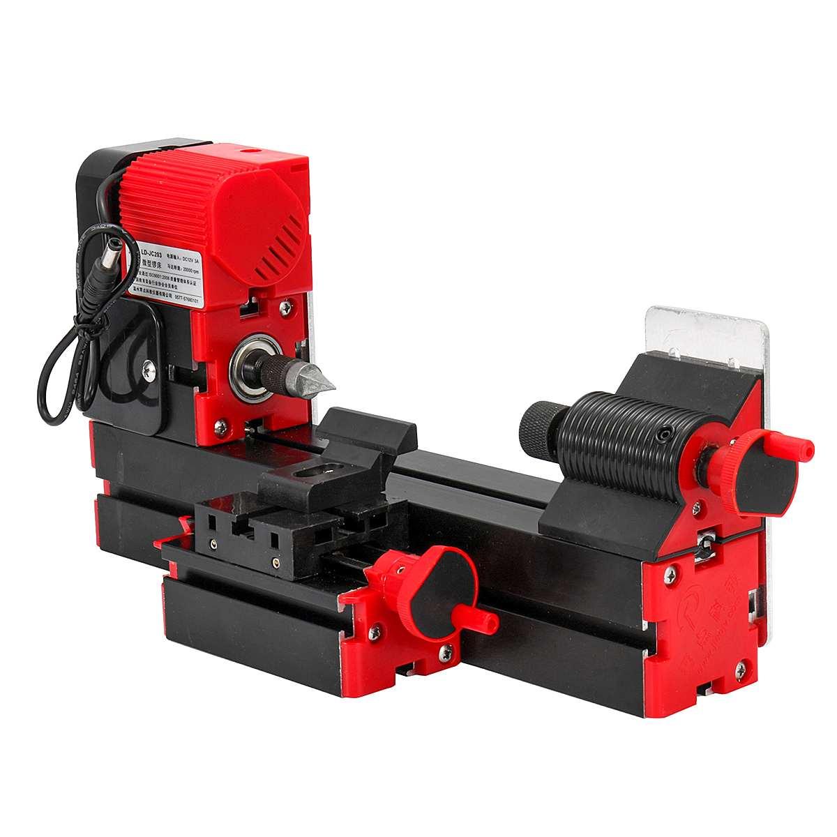 Mini torno de Metal DIY herramientas eléctricas 20000 rpm procesamiento motorizado torno de Metal de velocidad Variable torno de Metal herramientas de carpintería