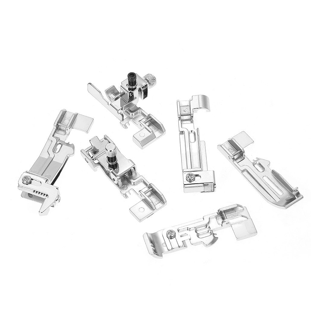 6 Pieces Overlock Foot Presser Foot For Sewing Machines