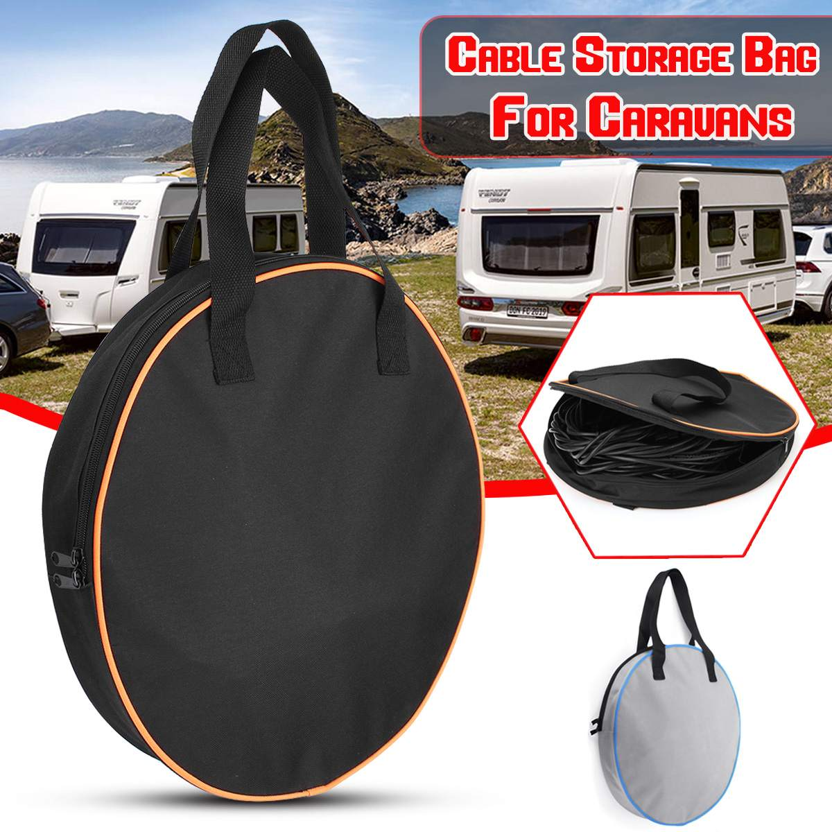 Car RV Caravans Wire Cable Harness Storage Bag Case Motorhome Gardening Portable Heavy Duty Cable Organizer