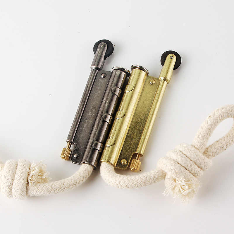 HY-680 Metal Lighter Outdoor Camping Velvet Lighter Retro Rattlesnake  Vintage Velvet Rope Trench Lighter Accessories Dropship