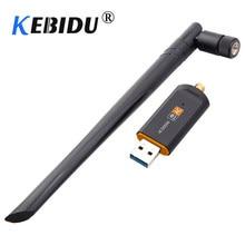 Kebidu – adaptateur WiFi sans fil USB 1200Mbps, double bande 2.4/5Ghz, avec récepteur haute vitesse, carte réseau aérienne 802.11AC