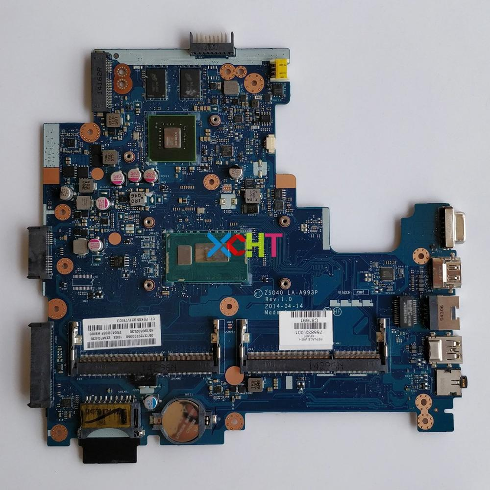 755832-001 755832-501 w 820M/2GB GPU i3-4005U CPU LA-A993P for HP 14-s001TX 240/246 G3 NoteBook PC Laptop Motherboard Tested755832-001 755832-501 w 820M/2GB GPU i3-4005U CPU LA-A993P for HP 14-s001TX 240/246 G3 NoteBook PC Laptop Motherboard Tested