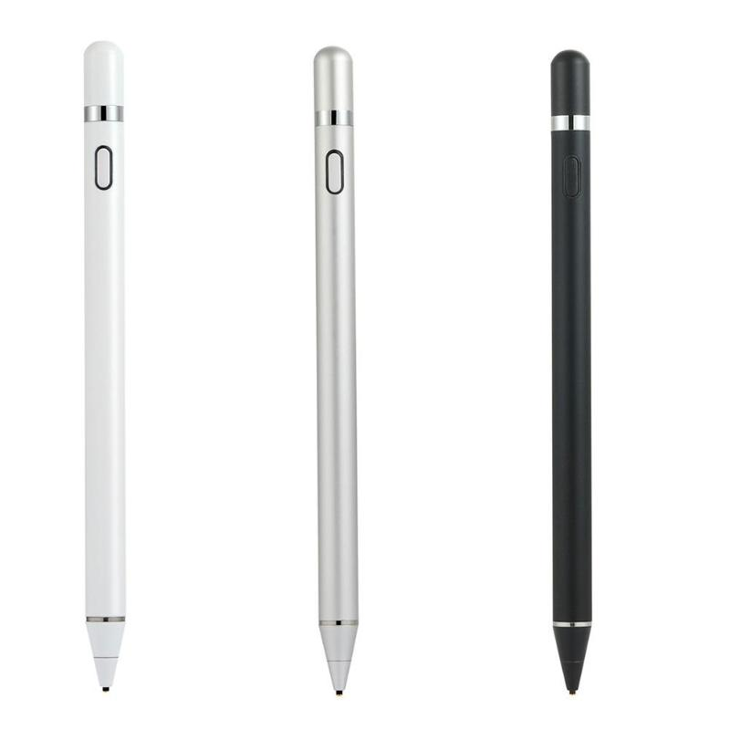 K818 Aluminium Alloy Rechargeable Active Capacitor Pen Drawing Writing Touch Screen Pen For Tablet Smart Phone