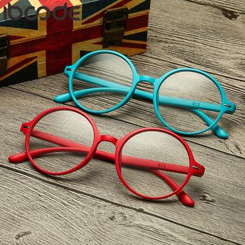 Iboode okulary do czytania mężczyźni kobiety TR90 Ultralight żywica okrągła oprawka nadwzroczność okulary korekcyjne okulary starczowzroczne Unisex nowość tanie i dobre opinie Przezroczysty Lustro 4 7cm Akrylowe Z tworzywa sztucznego Vintage Eyeglasses Oculos De Sol Shopping Party Travel T Show Driving