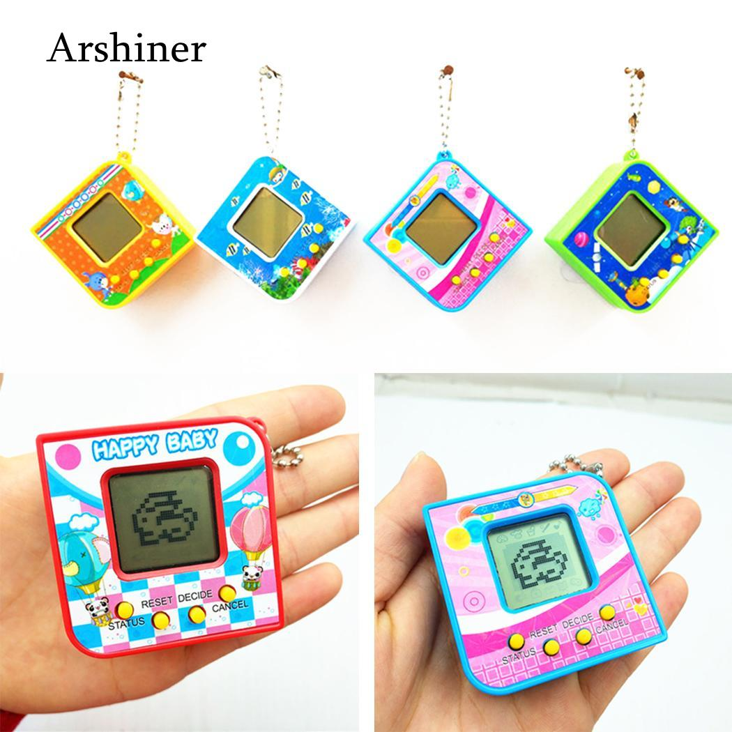 Retro 3 Years Virtual Funny Tamagotchi Unisex Game Electronic Handheld Picture Pet Square Toy As Machine Kids