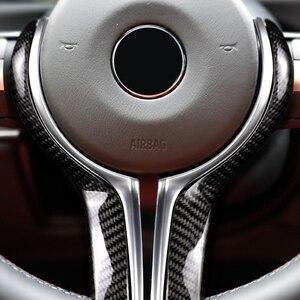 Image 4 - Cubierta de repuesto para volante de BMW, fibra de carbono y ABS, solo serie M, para M2, F87, M3, F80, M4, F82, M6, F06, F12, F13, X5M, F85, X6M, F86