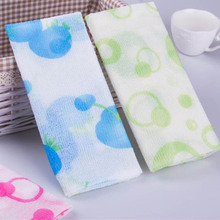 Portable Bathroom Accessories Mesh Shower Towel Body Washing