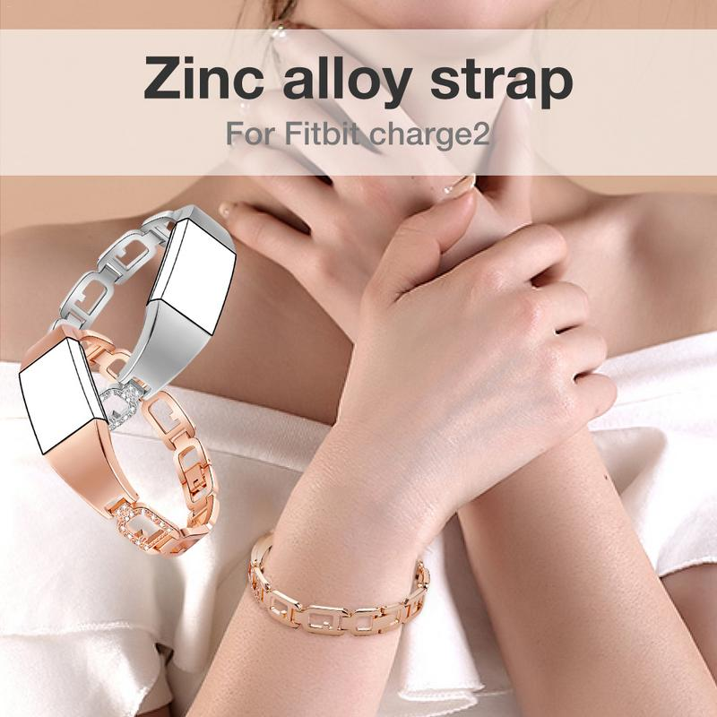 Image 5 - Zinc Alloy Watchband Smart Watch Bracelet Durable Scratch Resistant Adjustable Wristband Bracelet With Diamond Large Ring Strap-in Smart Watches from Consumer Electronics