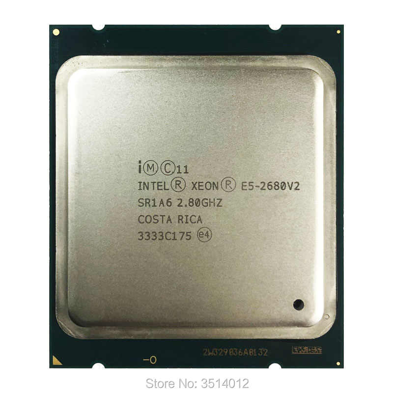 Intel Xeon E5-2680v2 E5 2680v2 E5 2680 v2 2.8 GHz Ten-Core Twenty-Thread CPU Processor 25M 115W LGA 2011