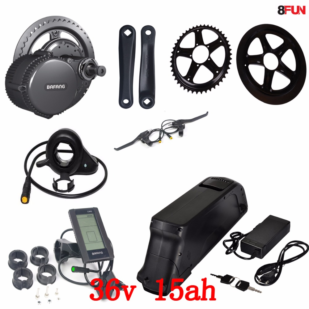 36V 500W bafang BBS02B mid central crank motor electric bicycle conversion kit with 36V 15AH for samsung Lithium ion Battery36V 500W bafang BBS02B mid central crank motor electric bicycle conversion kit with 36V 15AH for samsung Lithium ion Battery