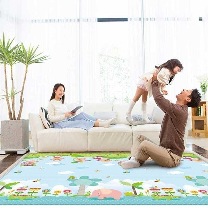 Tapis de jeu bébé ramper Puzzle mousse tapis de route pour enfants 200x180 cm activité développement Alfombra Infantil pliable tapis de jeu