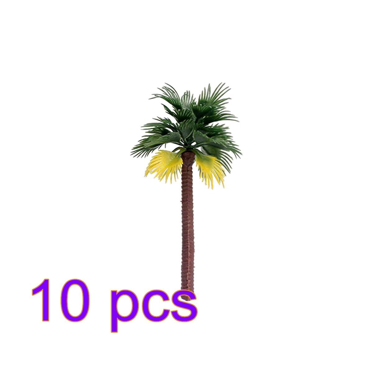 10pcs 7cm Plastic Coconut Palm Tree Train Railroad Architecture Diorama Tree Model Building Accessories 2019 New Arrival