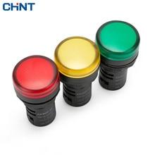 цена на CHINT Indicator Light ND16-22D Yellow Green Gules 220v 380v 24v 12v Led Signal Lamp