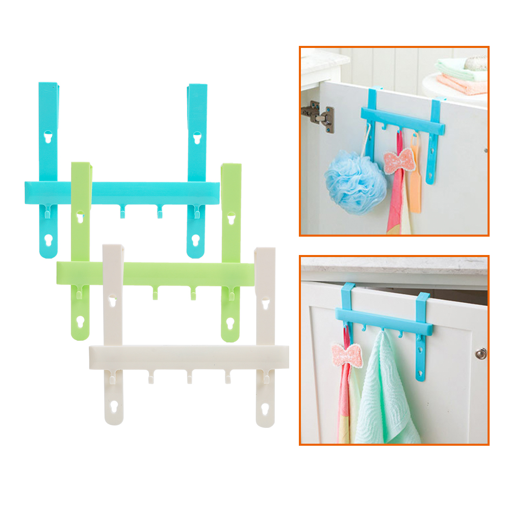 Kast Deur Terug Haak Home Organisatie Multifunctionele Nail-gratis Trace Haak Handdoek Rag Schort Houder