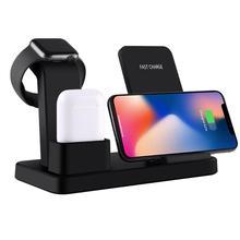 3 en 1 chargeur intelligent sans fil support de charge pour AirPods support pour téléphone multifonction Dock de charge pour iPhone Apple Watch chargeur