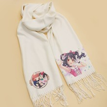 Japanese Anime Lovelive Scarf Cosplay Soft White Warm Cute Winter Scarves Stoles Women Shawl Gifts