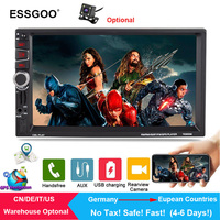 Essgoo 7 2 Din Car Radio GPS Navigation Audio Bluetooth Autoradio Multimedia MP5 Player Rear Camera Navigator 2018 EU Free Map