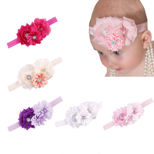 Baby Headband Hairband Soft Elastic Headband Floral Hair Kids Newborn